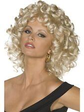 Ladies Sandy Wig Blonde Grease 50's Fancy Dress