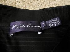 Ralph Lauren Purple Label Polo Shirt Black Medium M Cotton Slim Fit
