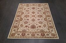 CHINESE,TRADITIONAL,FLORAL,90% WOOL RUG,224 x 160CM,IVORY,KHAKI GREEN,YELLOW,
