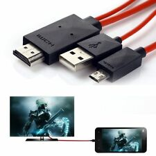 6Ft MHL Micro USB to HDMI HDTV Cable Cord Adapter Plug for Cell Phones Tablets