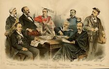 PRESIDENT GARFIELD AND HIS CABINET JAMES BLAINE ROBERT LINCOLN SECRETARY OF WAR