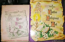 1961 Vtg Treasure Easter Religious Art Pictures 16 Painting Prints by Ideals
