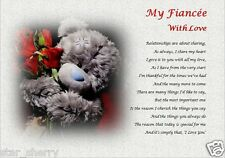 MY FIANCEE WITH LOVE ( laminated gift) personalised poem WIFE TO BE