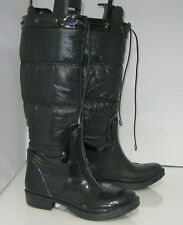 new bamboo Blacks  1 inch low thick heel snow sexy knee boot  .Size.  7 P