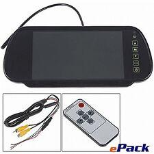 """7"""" LCD Mirror Monitor LCD Car Rear View Parking Backup Kit 1-3D Ship"""