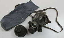 (3) WW2 era SWEDEN SWEDISH ARMY m36 GAS MASK + 1942 DATED FILTER AND BAG