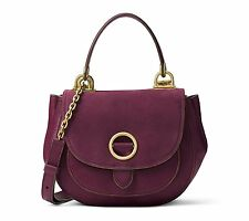 NWT Michael Kors Isadore Medium Suede Messenger Bag - Plum