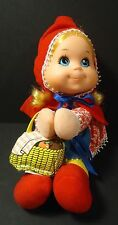 MATTEL BABY BEANS Little Red Riding Hood DOLL with BASKET 1976 VINTAGE