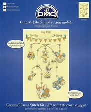 DMC MODERN SAMPLERS: CUTE MOBILE BABY BIRTH SAMPLER 2015 CROSS STITCH KIT BK1550