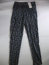 MNG collection ladies patterned summer trousers size xs NEW WITH TAGS FREE POST
