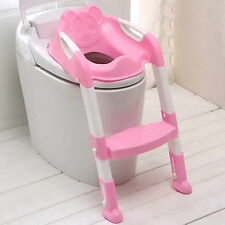 Teddi Child Toddler Kids Toilet Potty Trainer Training Chair Step Up Ladder PINK