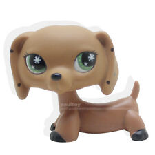 Rare Littlest Pet Shop Monopoly Brown Dachshund Snowflake Eyes Animal LPS Toy