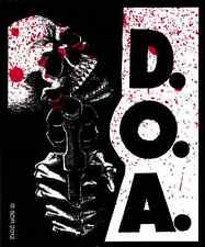 40116 D.O.A. Dead on Arrival Skeleton Skull Gun Blood Punk Rock Sticker / Decal