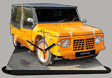 MINIATURE, MODEL CARS, CITROEN MEHARI ORANGE EN HORLOGE, citroen-mehari-03