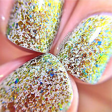 "Polish Me Silly ""Free Fall"" Flakie Topcoat Polish glitter nail polish"