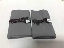 Pottery Barn Teen Classic Bed EZ Dorm Room Pillowcases Set 2 Charcoal