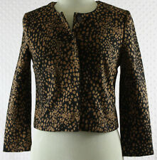 Vivienne Tam Ladies Sz 4 Black Brown Spotted Jacket Blazer Career Poly/Rayon
