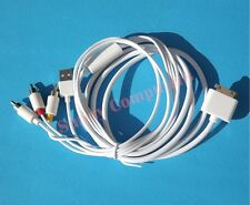 AV Composite RCA Cable TV Monitor Cord for Apple iPad 3 2 2nd iPhone 4G 4 4S 3GS