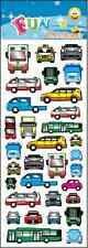"FANTASTIC FUN STICKERS "" CARS & bUSES "" FOR CARDS & CRAFT"