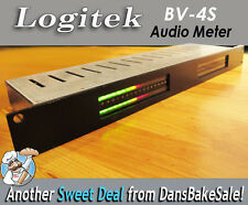 Logitek BV-4S Vintage Rack Mount Audio Meter with Power Supply - Works Great!