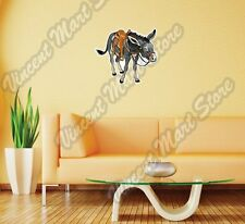 "Donkey Saddle Mule Ass Jackass Horse Wall Sticker Room Interior Decor 25""X20"""