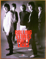 ROLLING STONES Gered Mankowitz 40 LICKS rare promo POSTER Virgin 2002 18 x 24 in
