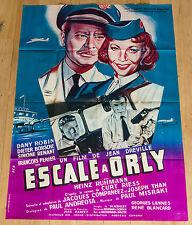 RARE Affiche de cinéma originale : ESCALE A ORLY de Jean DREVILLE