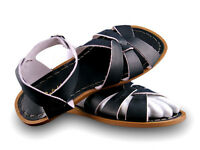 Ladies Adult Saltwater Sandal - Black