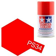 TAMIYA PS-34 Bright Red R/C Car Lexan Polycarbonate Spray Hobby Paint 3oz.