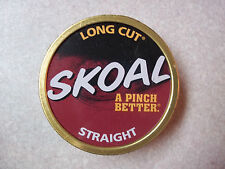 SKOAL STRAIGHT LONG CUT EMPTY CAN & LID PRE WARNING HARD TO FIND-COLLECTIBLE
