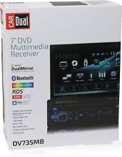 "Dual DV735MB 7"" Single DIN  In-Dash DVD/CD/AM/FM/Digital Media Car Stereo"