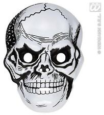 White Plastic Skull Mask Skeleton Skeletor Halloween Fancy Dress