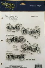 "Technique Tuesday Clear Stamp ""In A Word: Love. * New*"