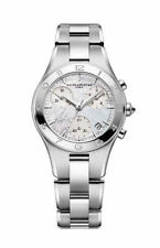 Baume and Mercier Linea Chronograph Mother of Pearl Diamond Ladies Watch