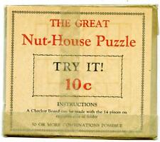 Great Nut House Puzzle '30s Original Package New Old Stock NOS Toy Harrisburg PA
