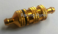 RC Nitro Car Buggy Fuel Filter 1/8 1/10 fits 5mm Fuel Line Pipe Alloy GOLD LONG
