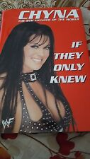 wwf autographed chyna doll novel.