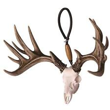 Shedz Whitetail Deer Skull Antlers Figurine Rearview Mirror Hanger - Big Rack