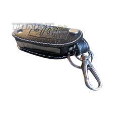 Clé sac pliable clé clé étui en cuir blanc 3er pour vw seat skoda