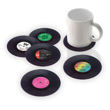 6PCS Vinyl Coaster Groovy Record Cup Drinks Holder Mat Tableware Placemat