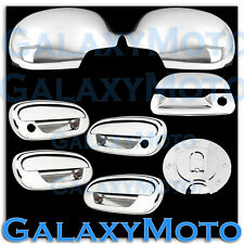 97-03 Ford F150 Chrome Mirror+4 Door Handle+NO KYP+w/PSG KH+Tailgate+GAS Cover