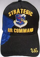 STRATEGIC AIR COMMAND Cap/Hat Black w/ Shadow logo Air Force**Free Shipping**
