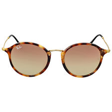 Ray Ban Round Fleck Flash Copper Gradient Flash Sunglasses RB2447F 11607O 52