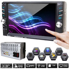 "6.6"" 2 Double DIN Car Stereo Head Units Radio In Dash Bluetooth MP5 Video Player"