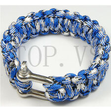 Paracord 550 Bracelets Buckle Camping Survival Gear Tool Camping Metal shackle C