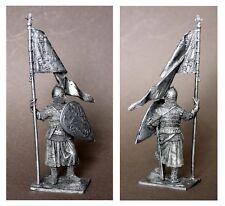 Russischer Krieger mit Standarte,  Russian warrior, XIV -XV Jh.  54mm