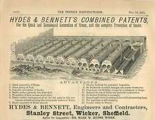 1877 Hydes And Bennett Stanley Street Wicker Sheffield Steam Generation Ad