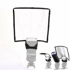 Foldable Speedlight Reflector Snoot Sealed Flash Diffuser For DSLR Canon Sony