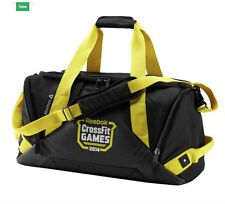 BNWT Mens Women's Reebok Crossfit Games Grip Duffel Bag CF 2014 Black Large