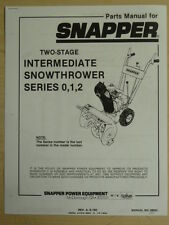 SNAPPER SNOW THROWER TWO-STAGE. SERIES 0, 1, 2. PARTS MANUAL # 06044